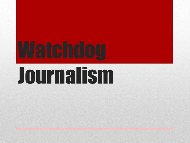 WatchdogJournalism