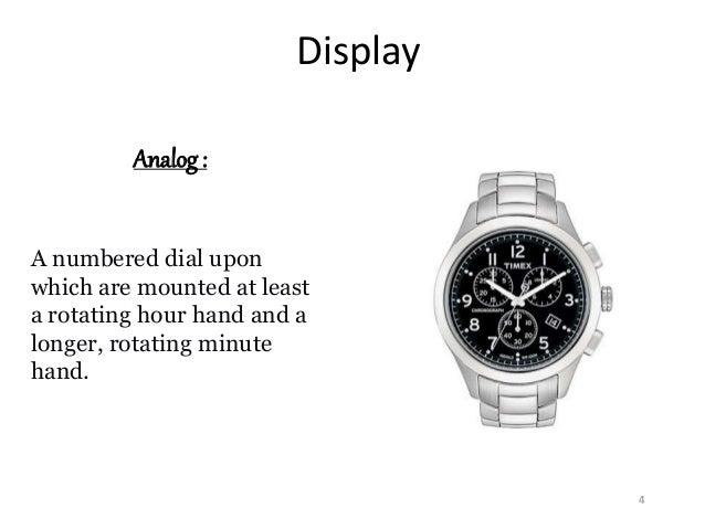 watches presentation