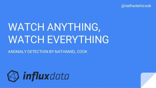 @nathanielvcook WATCH ANYTHING, WATCH EVERYTHING ANOMALY DETECTION BY NATHANIEL COOK