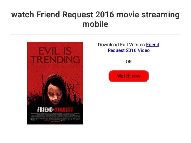 Friend Request Stream