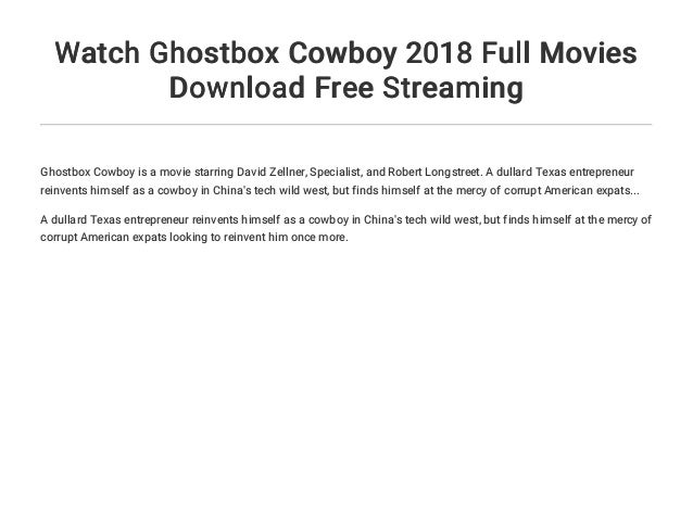 Watch Ghostbox Cowboy 2018 Full Movies Download Free Streaming