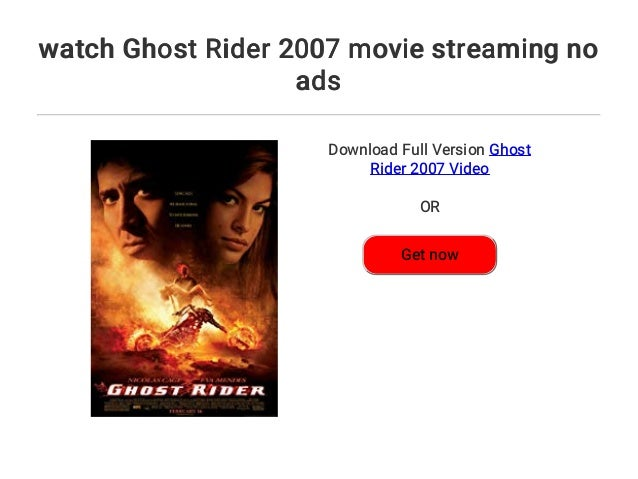 watch Ghost Rider 2007 movie streaming no ads