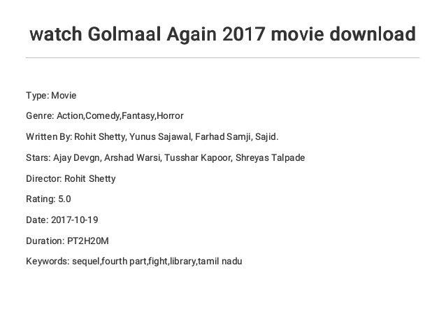 golmaal 3 movie download 2017