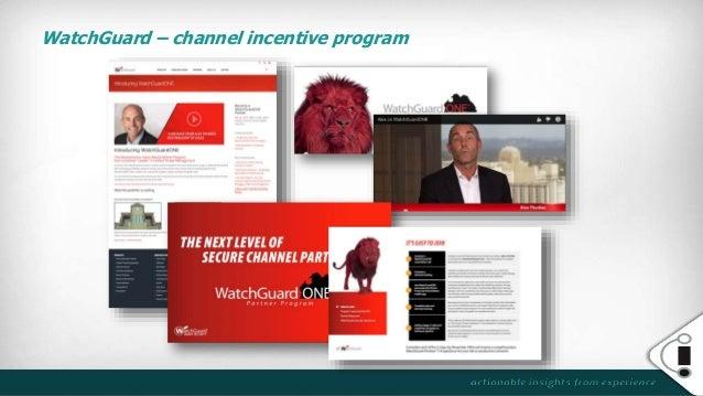 WatchGuard – channel incentive program
