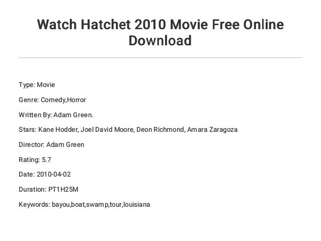 Hatchet gary paulsen movie download.