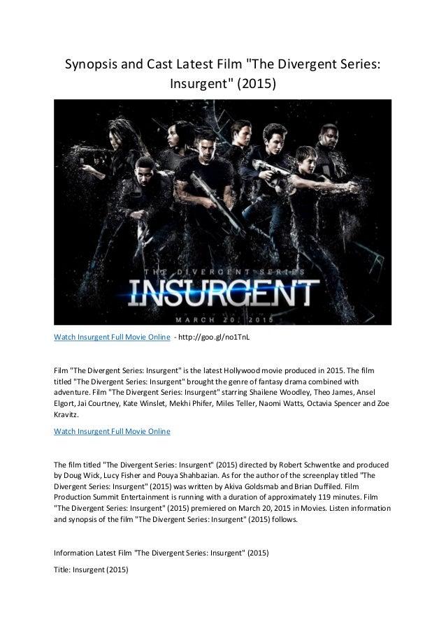 Watch Insurgent Full Movie Online