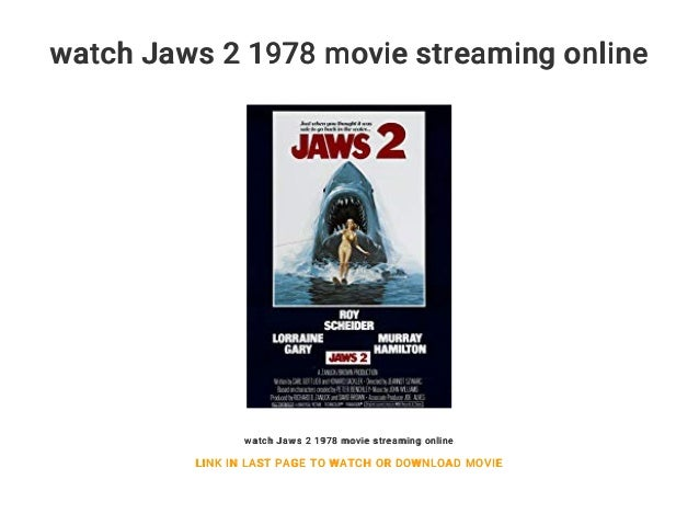 Watch Jaws 2 1978 Movie Streaming Online