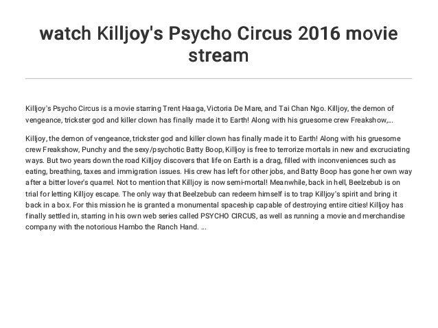 Killjoys Stream