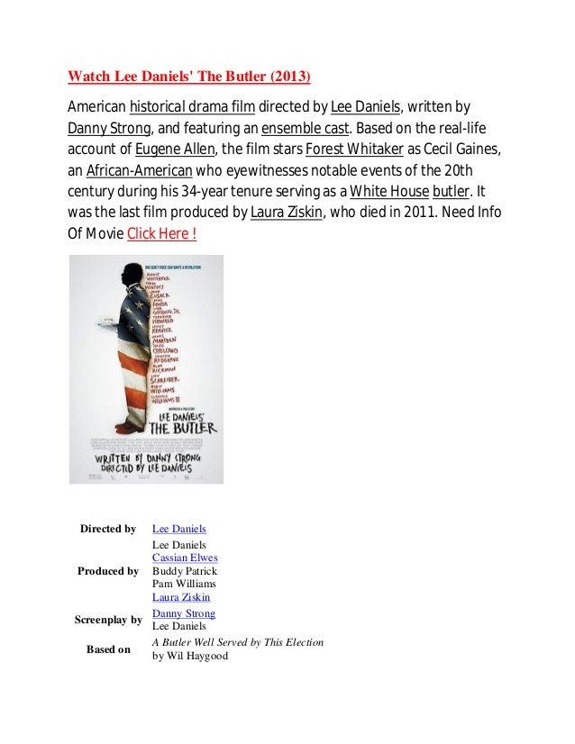 Watch Lee Daniels The Butler 2013