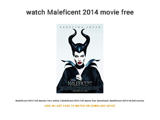 Watch Maleficent 2014 Movie Free