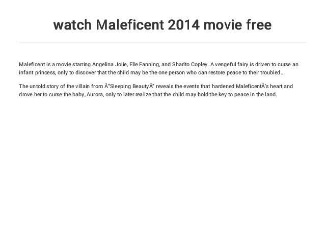 Watch Maleficent 2014 Movie Free