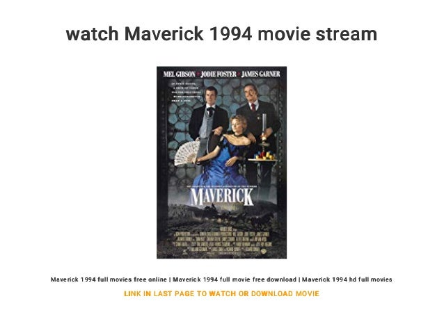 Watch Maverick 1994 Movie Stream
