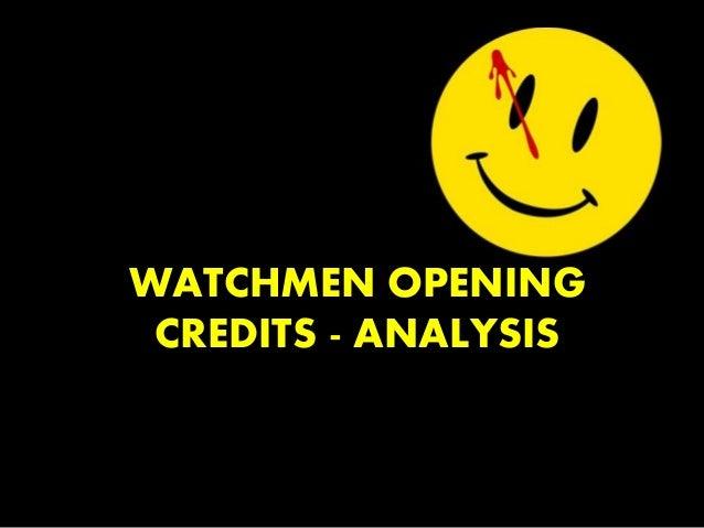 watchmen analysis