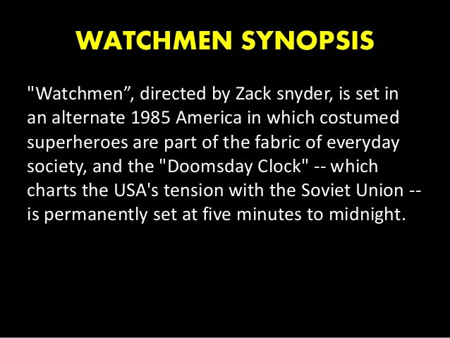 watchmen analysis Everything you ever wanted to know about the characters in watchmen, written by experts just for you.