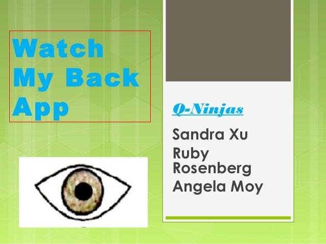 WatchMy BackA pp      Q-Ninjas          Sandra Xu          Ruby          Rosenberg          Angela Moy