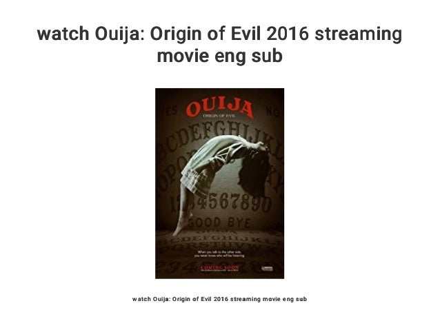 Ouija Origin Of Evil Stream