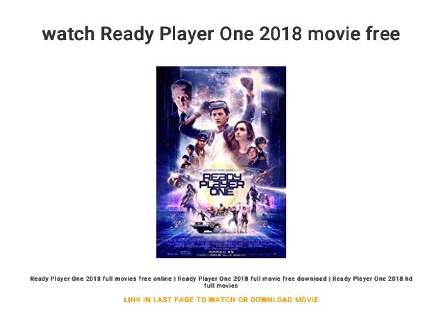 Watch Ready Player One 2018 Movie Free