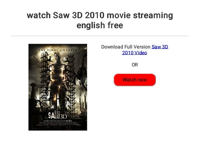 saw 3d english movie download