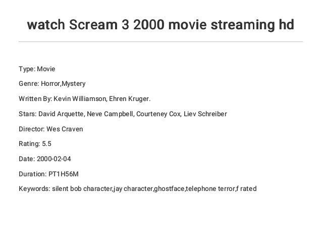 Scream 3 Stream
