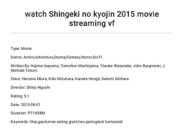 Watch Shingeki No Kyojin 2015 Movie Streaming Vf