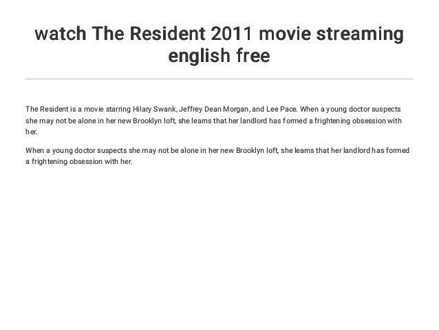 the resident 2011 english subtitles