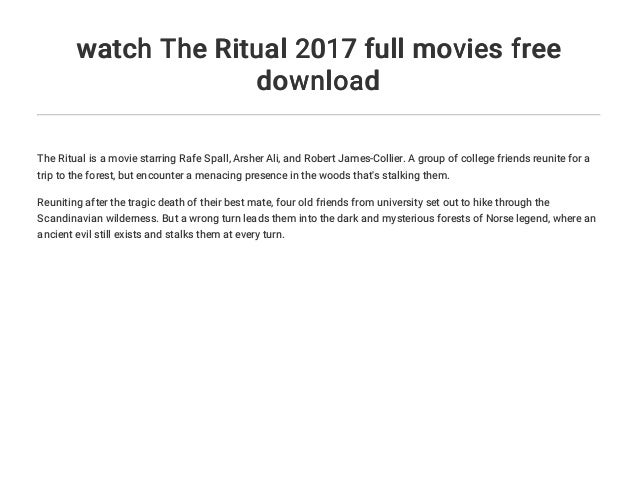 the ritual full movie download