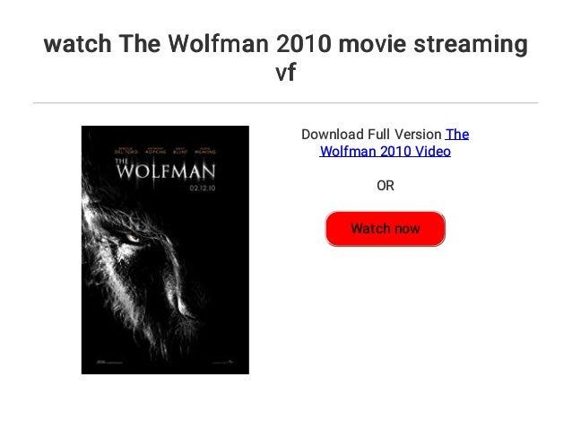 The Wolfman Stream