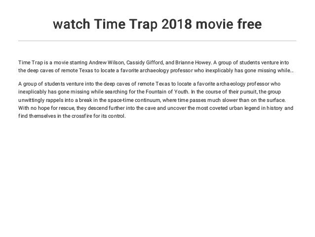 watch Time Trap 2018 movie free