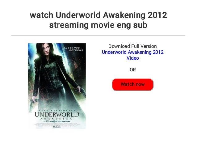 watch Underworld Awakening 2012 streaming movie eng sub