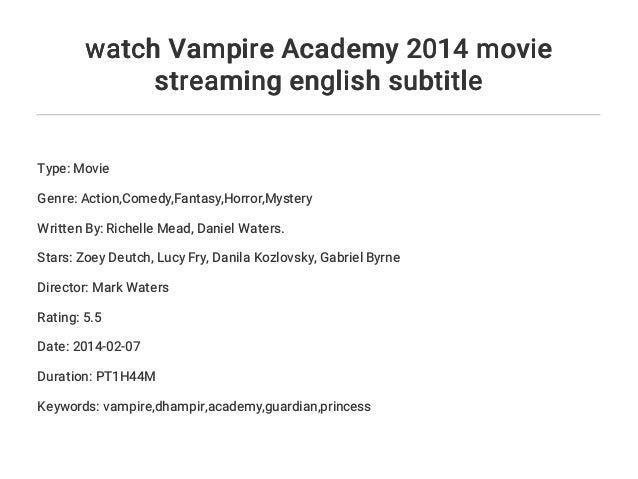 Vampire Academy Stream English