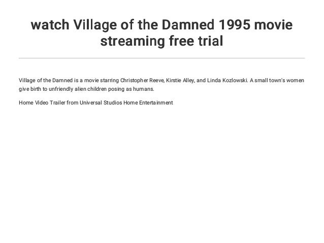 village of the damned full movie 1995 english