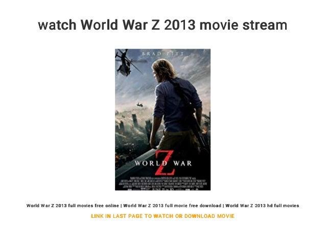 Watch World War Z 2013 Movie Stream