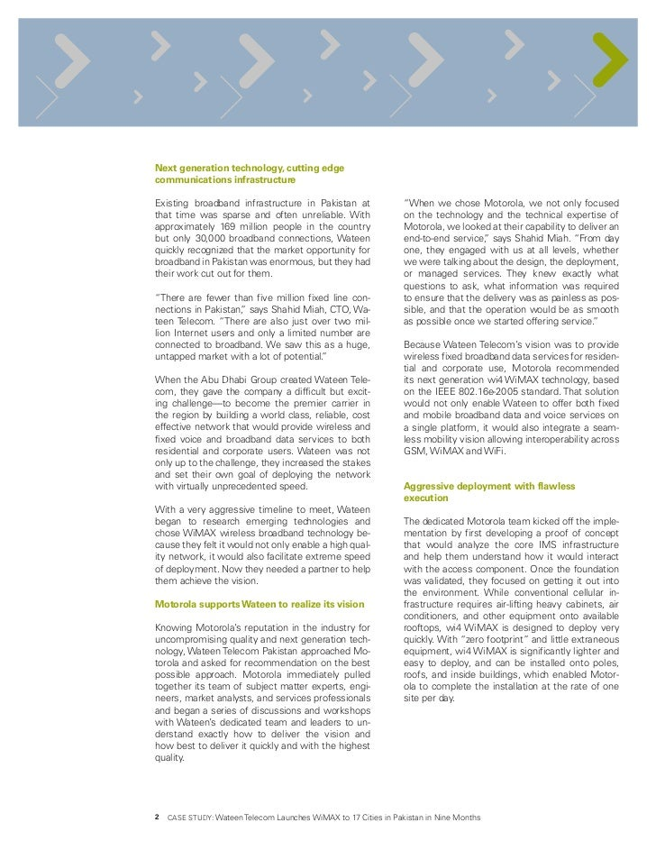 case study telecom pakistan Each case study the review covered numerous  publication of ,little lion scientific r&d islamabad pakistan other case the implementation of erp modules in.