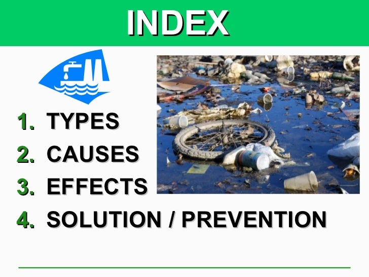 the causes effects and possible prevention of pollution