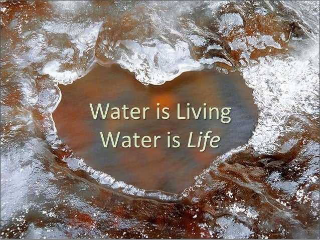 Water is Living  Water is Life