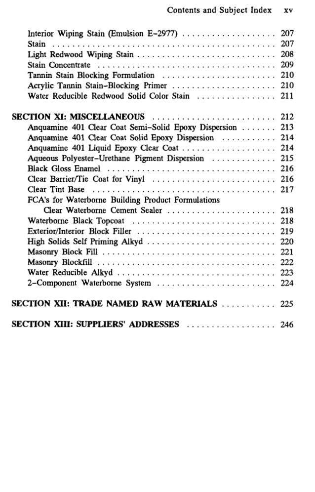 Water Based Paint Formulations Vol 4