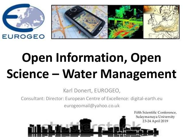 Karl Donert, EUROGEO, Consultant: Director: European Centre of Excellence: digital-earth.eu eurogeomail@yahoo.co.uk Fifth ...
