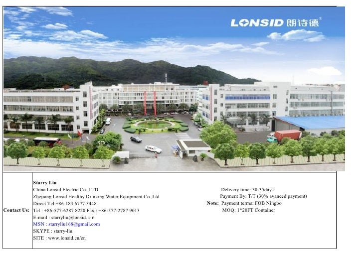 Starry Liu            China Lonsid Electric Co.,LTD                                    Delivery time: 30-35days           ...