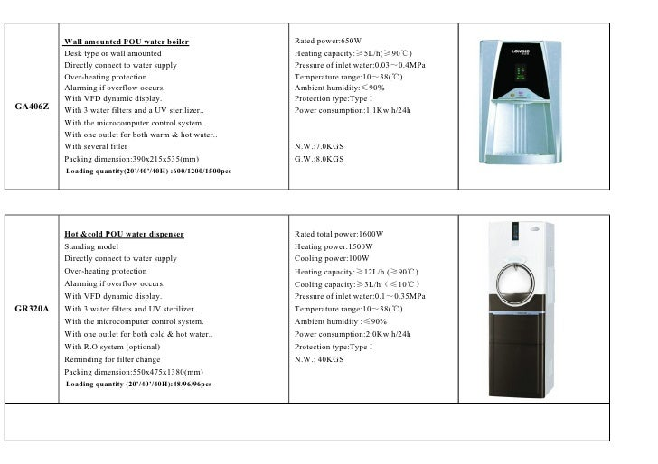 Wall amounted POU water boiler                    Rated power:650W         Desk type or wall amounted                     ...