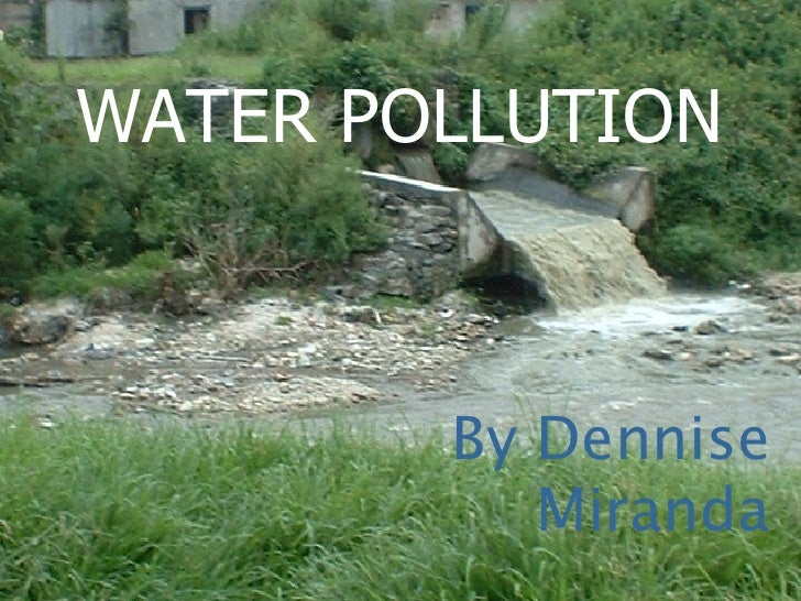 WATER POLLUTION By Dennise Miranda