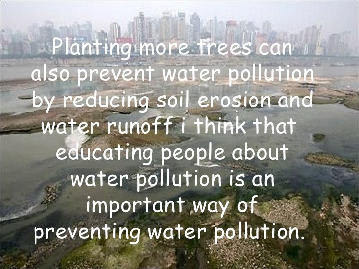 importance of trees in reducing pollution