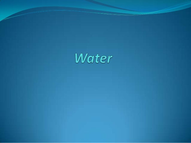 What's Water?Water is the clear, tasteless, and odorless liquid that we drink to stay alive.Every living thing needs water.