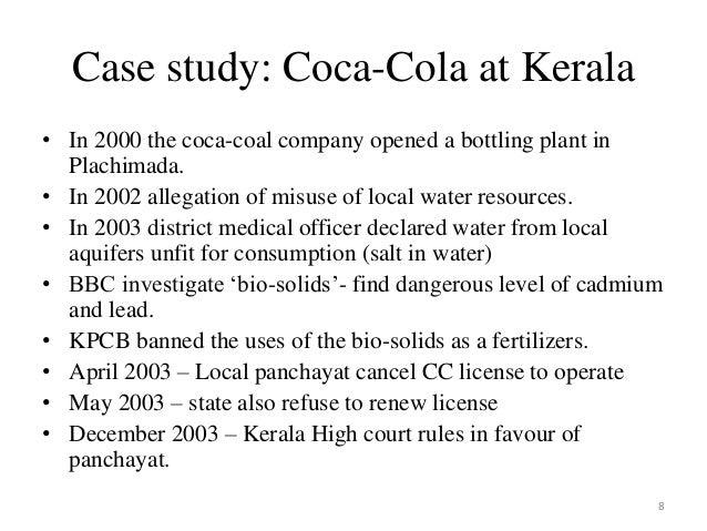 coca cola plachimada case study ppt