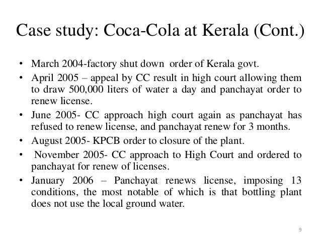 coca cola plachimada case study ppt