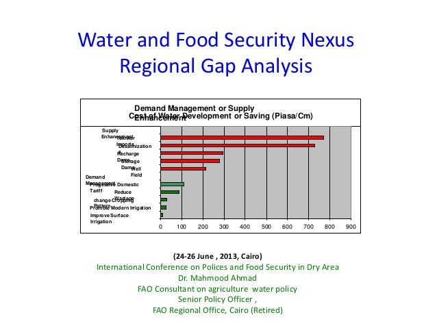 Water and Food Security NexusRegional Gap Analysis(24-26 June , 2013, Cairo)International Conference on Polices and Food S...