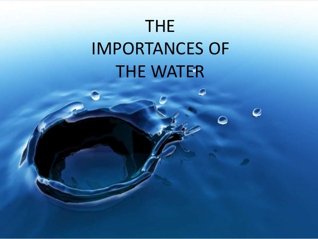 Importance of water in life