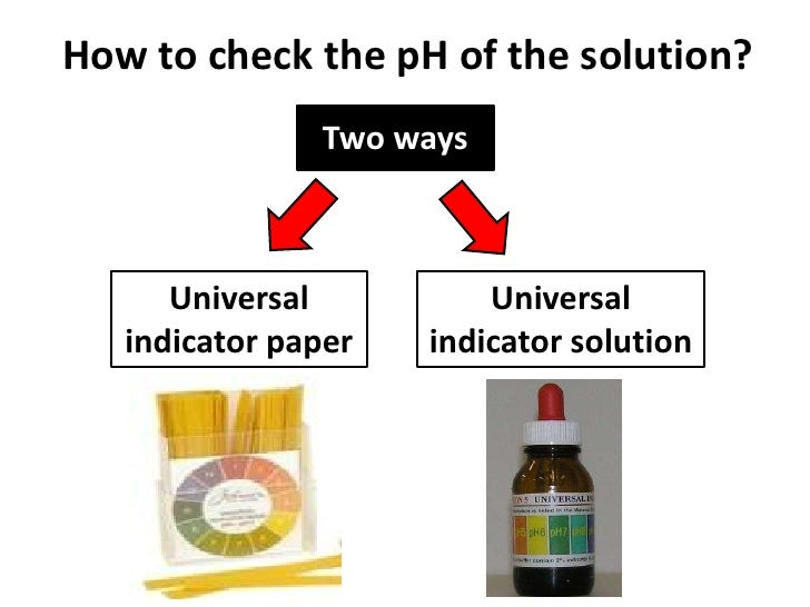 Ap chemistry: how many types of universal indicators are there?