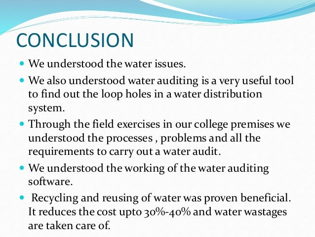 Water Auditing
