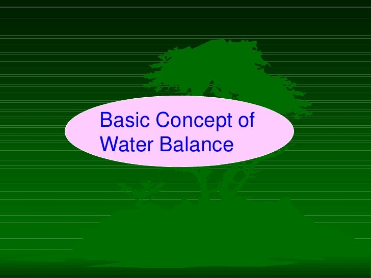 Irrigation Water Balance Fundamentals - Cal Poly
