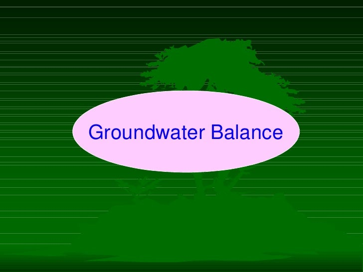 Water Balance in the Root Zone - Soil Physics